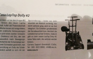 New prosup laptop dolly 2 at ibc 2017