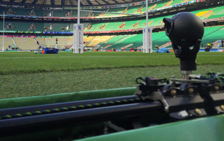 Camera Slider - Camera Track Prosup in action Twickenham Stadion