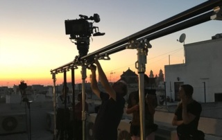 Prosup tango slider in action in spain filming Mi Vida starring Loes Luca